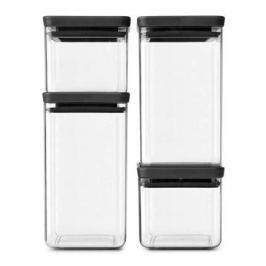 Набор прямоугольных контейнеров, 4 шт, темно-серый 122422 Brabantia