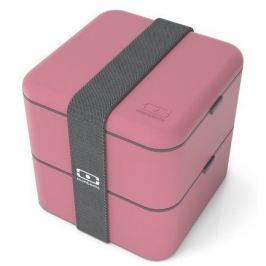 Ланч-бокс MB Square blush (1.7 л), 14.8х14.3х14.3 см, темно-розовый 1200 03 126 Monbento