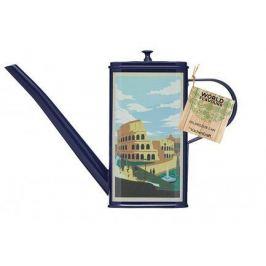 Ёмкость-лейка для масла World of Flavours Italian (0.5 л), 21.5x5.5x15 см, синяя WFOILCAN Kitchen Craft