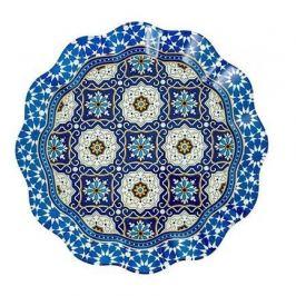 Тарелка круглая с ажурным краем Лазурит, 25 см 22300010 Walmer