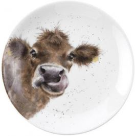 Тарелка десертная Забавная фауна Корова, 16.5 см RWC WN4093-XW-Cow Royal Worcester