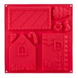 Форма для выпечки Gingerbread house, 30.5х30.5х1.5 см, красная W27303015 Walmer