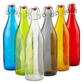 Бутылка стеклянная с зажимом Giara Funny (1 л), цвет в ассортименте 666260J87321328 Bormioli Rocco