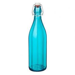 Бутылка стеклянная с зажимом Oxford (1 л), голубая 390850MBA321588 Bormioli Rocco