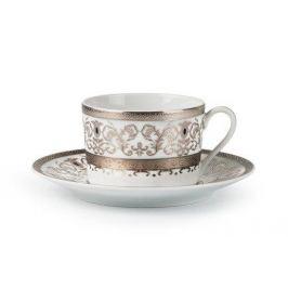 Набор чайных пар Mimosa Prague Platine (220 мл), 6 шт. 539506 1647 Tunisie Porcelaine