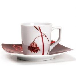 Набор кофейных пар Kyoto Noblesse Rouge, 6 шт. 719012 0753 Tunisie Porcelaine