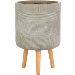Кашпо Страйп Круглое с подставкой, 37х61 см, серо-коричневое WSTRIP37-T IDEALIST