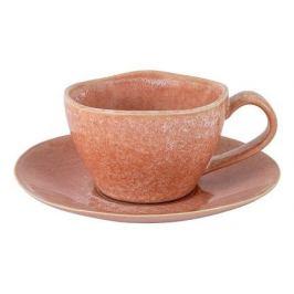 Чашка с блюдцем Canvas Red (180 мл), розовая HS901790_800 Home & Style