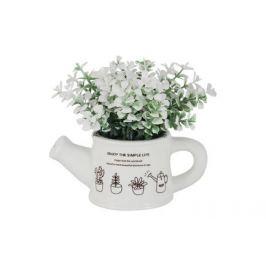 Декоративные цветы Букетик белый в лейке, 14x10x15 см DG-XF7525 Dream Garden