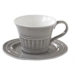 Чашка Abitare (400 мл), с блюдцем, темно-серая EL-R1872_ABDG Easy Life (R2S)