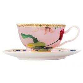 Чашка Contessa (200 мл), с блюдцем, розовая MW496-HV0012 Maxwell & Williams