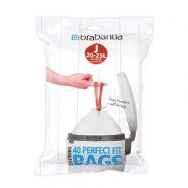 Пакет пластиковый J (23 л), 40 шт 115608 Brabantia