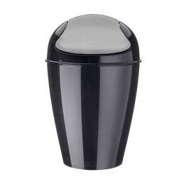 Корзина для мусора с крышкой Del S (5 л), черная 5777526 Koziol