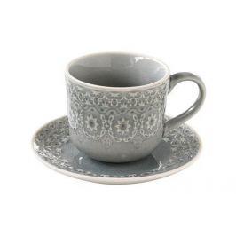 Чашка (300 мл) с блюдцем Ambiente, серая EL-R1215_AMBG Easy Life (R2S)