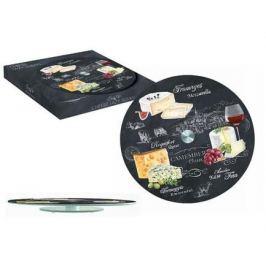 Блюдо стеклянное для сыра Мир сыров, 32 см, вращающееся R2S441_WOCH-AL Easy Life (R2S)