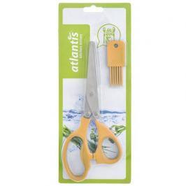 Ножницы кухонные для шинковки зелени, 21 см, оранжевые 18LF-1005-O Atlantis