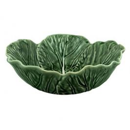 Салатник с резным краем Капуста, 22.5х22х7 см BOR65000622 Bordallo Pinheiro