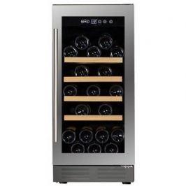 Винный шкаф (81 л), на 32 бутылки, монотемпературный, серый DAU-32.81SS Dunavox