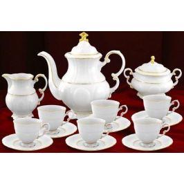 Сервиз кофейный 07160713-1139 мокко Соната Тонкое золото, 15 пр. 07160713-1139u Leander