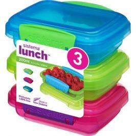 Набор контейнеров Lunch (200 мл), 11.5х9 см, 3 шт 41524 Sistema