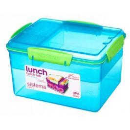 Контейнер двухуровневый с разделителями Lunch (2.3 л), 19.7х15.8х11.5 см 41665 Sistema