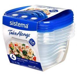 Набор контейнеров TakeAlongs (1.2 л), 17.5х16х13.3 см, 4 шт 54110 Sistema
