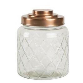 Емкость для хранения Lattice Glass, 10.6х13.7 см, медная 13100 T&G