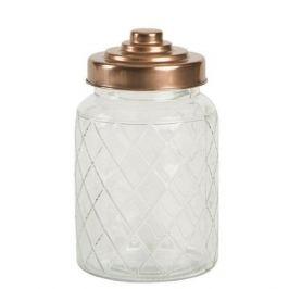 Емкость для хранения Lattice Glass, 10.6х17.7 см, медная 13101 T&G
