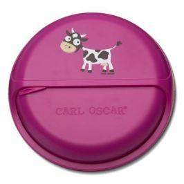 Ланч-бокс для перекусов SnackDISC Spider Cow, фиолетовый 108402 Carl Oscar