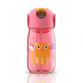 Бутылочка детская (415 мл), с силиконовой соломинкой, розовая ZK201-PK Zoku