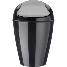 Корзина для мусора с крышкой Del M (12 л), черная 5775526 Koziol