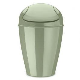 Корзина для мусора с крышкой Del M (12 л), эвкалиптовая 5775655 Koziol