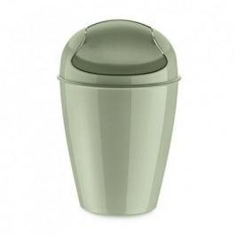 Корзина для мусора с крышкой Del S (5 л), эвкалиптовая 5777655 Koziol