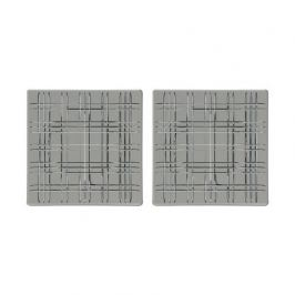 Набор квадратных блюд Square, 21х21 см, серый, 2 шт 101450 Nachtmann