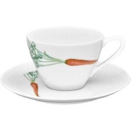 Чашка чайная с блюдцем Овощной букет. Морковка (210 мл) NOR1620-Q012WA17-1 Noritake