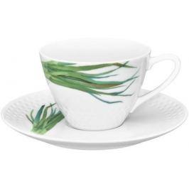 Чашка чайная с блюдцем Овощной букет. Зеленый лук (210 мл) NOR1620-Q012WA17-5 Noritake