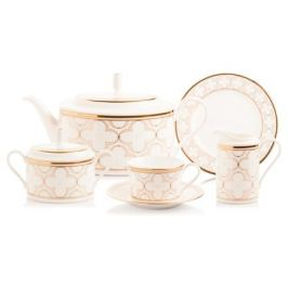 Сервиз чайный Трефолио, золотой кант, на 6 персон, 21 пр NOR4945-Tea Set 6/21 Noritake