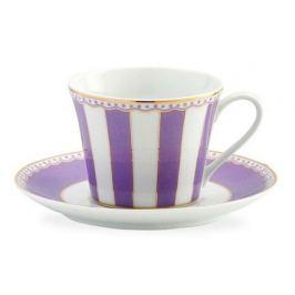 Чашка чайная с блюдцем Карнавал (240 мл), лавандовая полоска NOR0M248-T002B Noritake