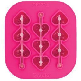 Форма силиконовая для льда на палочке Сердечки, 16х15х2 см TVL-81-22461 Tovolo