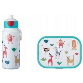 Набор детский ланч-бокс и бутылка для воды Campus (pu+lb), животные, 2 пр MEP-74101-65373 Mepal