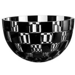 Салатник Domino, 25 см, черный 64614/49876/48349 Ajka Crystal