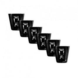 Набор стопок для ликера Retro Black (70 мл), черных, 6 шт 65659/50464/47029 Ajka Crystal