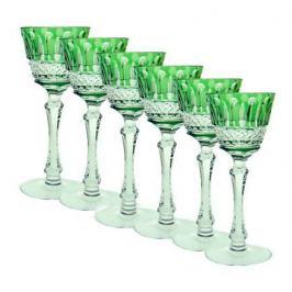 Набор рюмок для ликера St. Louis (70 мл), светло-зеленых, 6 шт 90854/47127/40371 Ajka Crystal