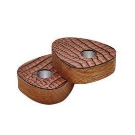 Подсвечник для высоких свечей фигурный, 8х10х2.5 см, коричневый, 2 шт. 9840 Lind Dna