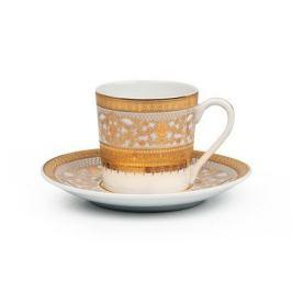 Набор кофейных пар Mimosa Didon Or (120 мл), 12 пр. 539012 1645 Tunisie Porcelaine