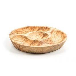 Блюдо декоративное, 20 см, 4 отделения ОЛИВА322 Tunisie Porcelaine