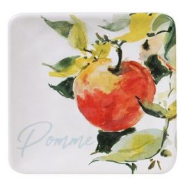Тарелка квадратная Яблоки