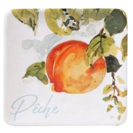 Тарелка квадратная Персики