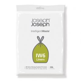 Пакеты для мусора IW6 экстра прочные, 30 л (20 шт) 30058 Joseph & Joseph