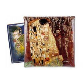 Тарелка квадратная Поцелуй (Г. Климт), 25х25 см CAR198-8011 Carmani
